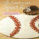 X885 Crochet PATTERN ONLY All-American Sport Baseball Rug