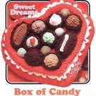 X886 Crochet PATTERN ONLY Annie's Attic Sweet Dreams Box of Candy Black & White