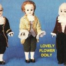 "Y457 Crochet PATTERN ONLY 3 President Outfits for 7 ½"" Dolls Monroe Adams Madis"