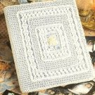X401 Crochet PATTERN ONLY Wedding Album Cover Pattern