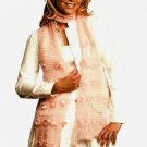 Y767 Crochet PATTERN ONLY Easy Delicate Lacy Floral Scarf Pattern