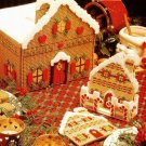 X456 Plastic Canvas PATTERN ONLY Gingerbread Village Pattern Set