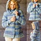 X379 Crochet PATTERN ONLY Denim Marble Hooded Jacket Pattern