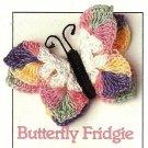 X441 Crochet PATTERN ONLY Canning Jar Cover Pattern & Butterfly Fridgie Pattern