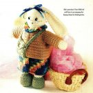 X150 Crochet PATTERN ONLY Book Bag Bunny Rabbit Doll Pattern