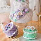 X133 Crochet PATTERN ONLY Cake Box Pattern Bridal Shower Gifts Pattern