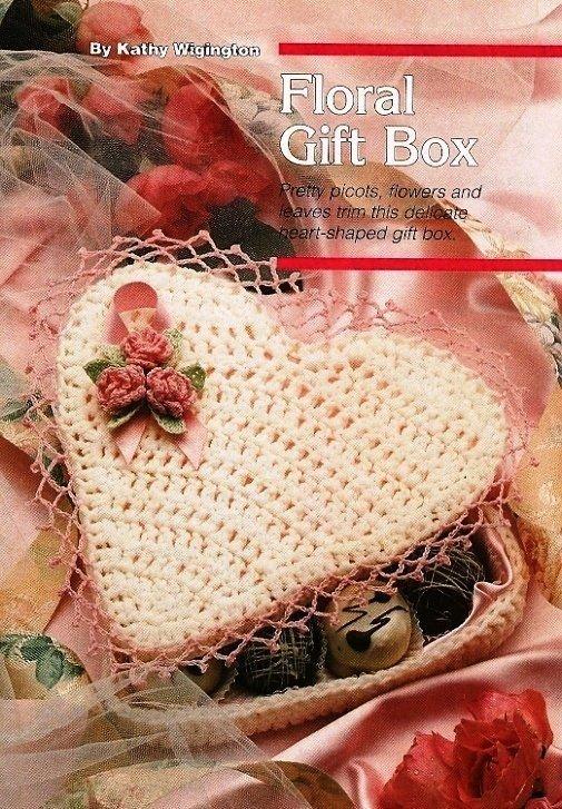 X181 Crochet PATTERN ONLY Floral Valentine Heart Candy Box Pattern