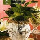 X843 Crochet PATTERN ONLY Easter Cross Flower Vase Cover & Ruffled Doily
