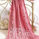 X839 Crochet PATTERN ONLY Queen of Hearts Afghan