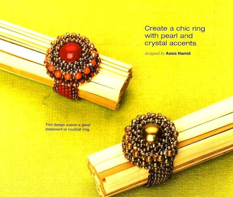 Y797 Bead PATTERN ONLY Beaded Chic Pearl and Crystal Ring Pattern