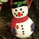 Y720 Crochet PATTERN ONLY Dapper Snowman Christmas Ornament Pattern