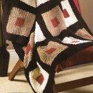 Y185 Crochet PATTERN ONLY Bold Blocks Afghan Throw Modern