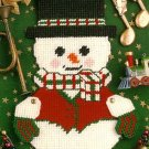 Y885 Plastic Canvas PATTERN ONLY Winter Snowman Wall Hanging Pattern