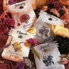 Y545 Cross Stitch PATTERN ONLY Floral Birthday Jewelry Bags Jan Feb Mar Apr