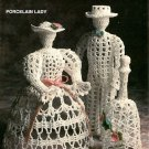X941 Crochet PATTERN ONLY Victorian Porcelain Thread Man, Lady and Bell Leaflet