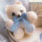 X691 Crochet PATTERN ONLY Teeny Tiny Teddy Bear Christmas Ornament