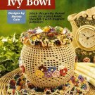 Y329 Crochet PATTERN ONLY Floral Ivy Bowl Vase Cover and Doily Pattern