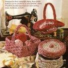 Y361 Crochet PATTERN ONLY Crochet Fabric Strip Homespun Baskets Patterns