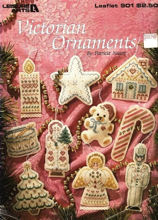 X903 Cross Stitch PATTERN Book ONLY Victorian Christmas Ornaments Charts Leaflet