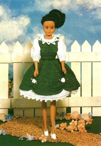 X806 Crochet PATTERN ONLY Irish Colleen Fashion Doll Barbie Dress
