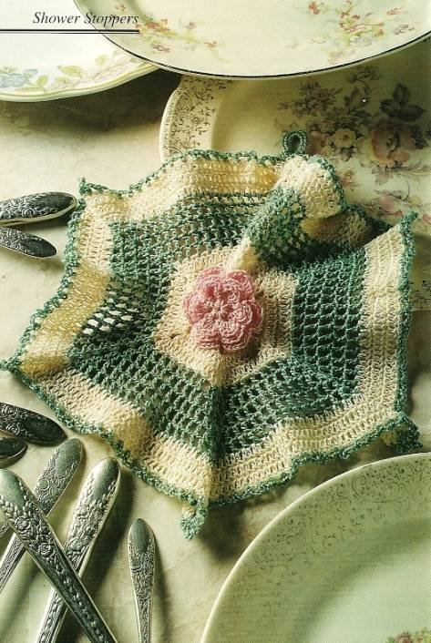 Y087 Crochet PATTERN ONLY Old-Fashioned Dishcloth
