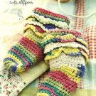 Y925 Crochet PATTERN ONLY Frilly Feet Baby Socks Easy Pattern