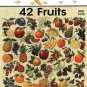 W086 Cross Stitch PATTERN ONLY Jeanette Crews 42 Fruits Charts One Nighters