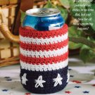 W069 Crochet PATTERN ONLY Liberty Soda Can Cozie Pattern USA Patriotic Picnic