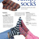 W159 Crochet PATTERN ONLY Family of Socks Mom Dad Children Patterns