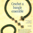 Y793 Beaded PATTERN ONLY Crochet a Bangle Ensemble Necklace Bracelet Pattern