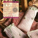 Y692 Crochet PATTERN ONLY Keepsake Glasses & Tissue Covers and Purse Pattern