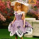 Y624 Crochet PATTERN ONLY Fashion Doll Summer Dress and Hat Pattern