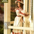 Y474 Crochet PATTERN ONLY 1913 Fashion Doll Day Dress Hat Parasol
