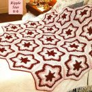 Y387 Crochet PATTERN ONLY Ripple Star Afghan Throw Pattern