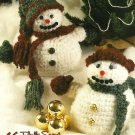 Y355 Crochet PATTERN ONLY Fluffy & Frosty Snow Couples Doll Toy Ornament