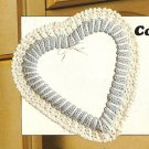 Y286 Crochet PATTERN ONLY Country Heart Wreath Pattern
