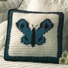 Y224 Crochet PATTERN ONLY Butterfly Pillow Pattern