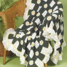 Y027 Crochet PATTERN ONLY Field of Daisies Afghan
