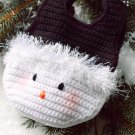 X976 Crochet PATTERN ONLY Little Girls Snowy Snowman Purse Bag Pattern