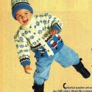 X416 Knit PATTERN ONLY Child Sweater & Hat Pattern Christmas Eskimo & Nutcracker