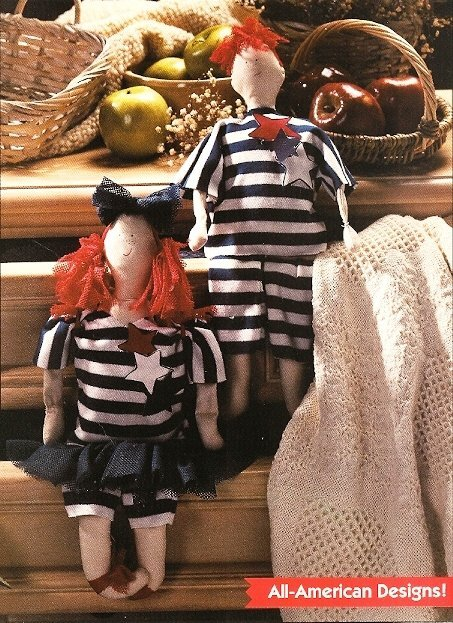 X227 Sewing PATTERN ONLY Soft Body Tom & Becky Dolls Patterns