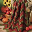 Y840 Crochet PATTERN ONLY Indian Summer Ripples Afghan Throw Pattern