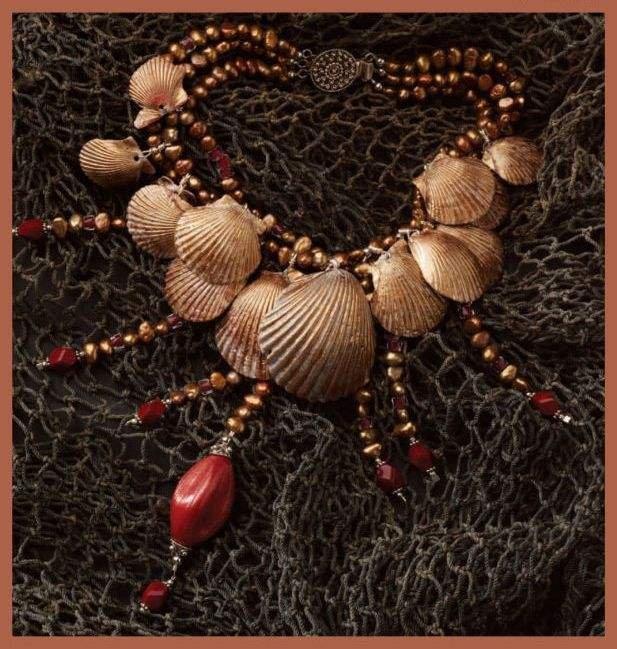 W081 Bead PATTERN ONLY Beaded Miami Muni Necklace Beads Shells Pattern