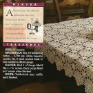 Y372 Crochet PATTERN ONLY Special Occasion Keepsake Tablecloth Pattern