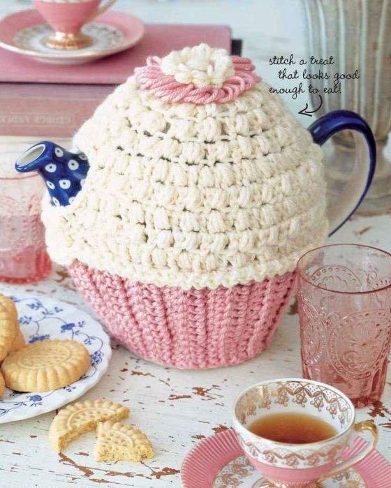 X230 Crochet PATTERN ONLY Sweet Cupcake Tea Cozy Pattern