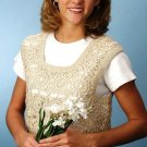 Y996 Crochet PATTERN ONLY Lacy Granny Square Springtime Ladies Vest Pattern