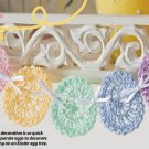 Y029 Crochet PATTERN ONLY Easter Egg Swag, Doilies and Little Girl Hat