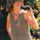 X175 Crochet PATTERN ONLY Taupe Pullover Ladies Top Pattern