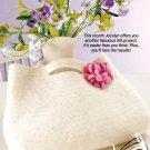 X881 Crochet PATTERN ONLY Pretty Flower Petals Felted Handbag Purse