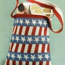 X815 Crochet PATTERN ONLY All American Stars & Stripes Shoulder Tote Bag Pattern